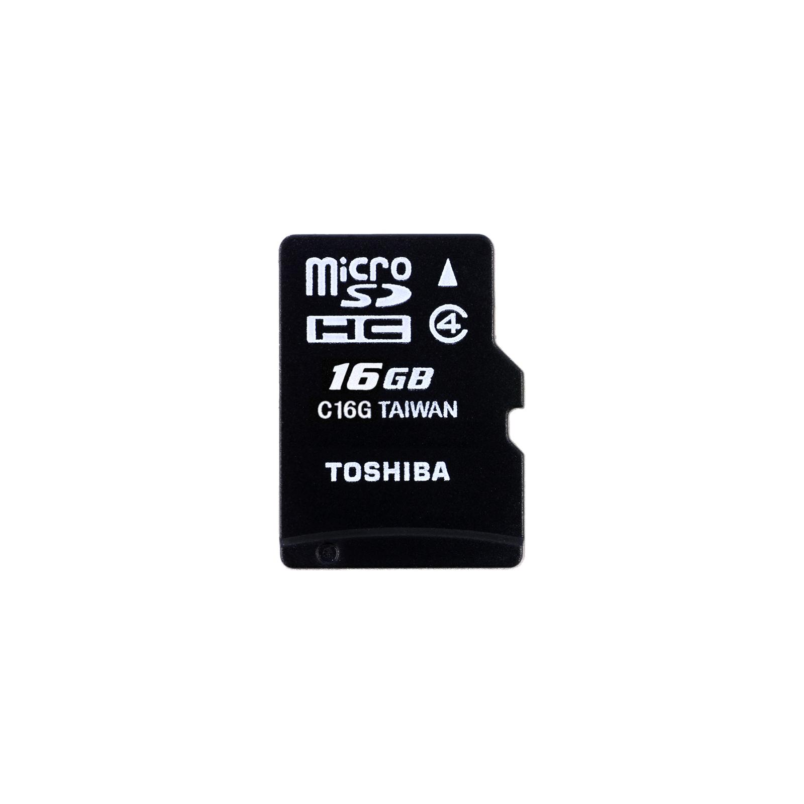 Карта памяти TOSHIBA 16GB microSDHC Class 4 (THN-M102K0160M2)