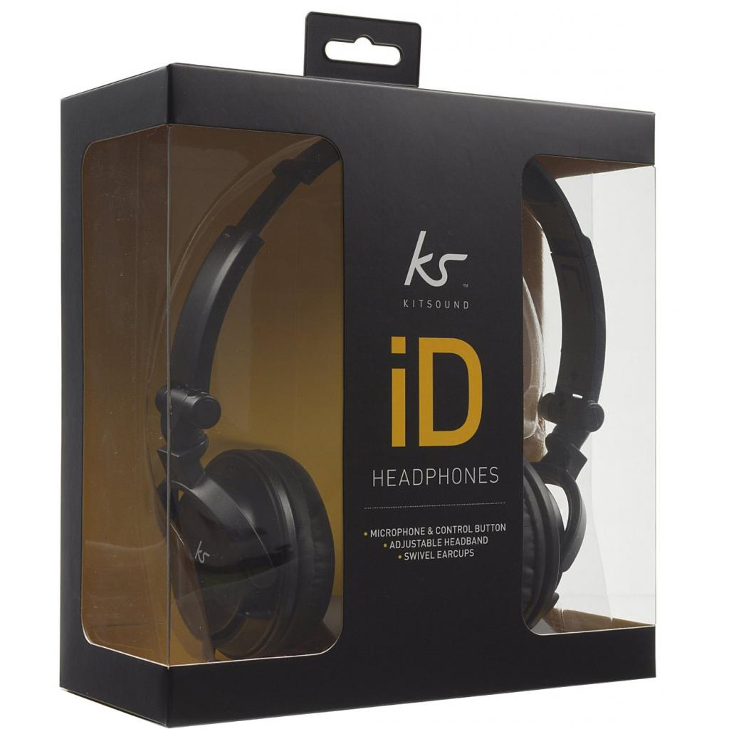 Наушники KitSound KS iD On-Ear Headphones with In-Line Mic Black (KSIDBK) изображение 4