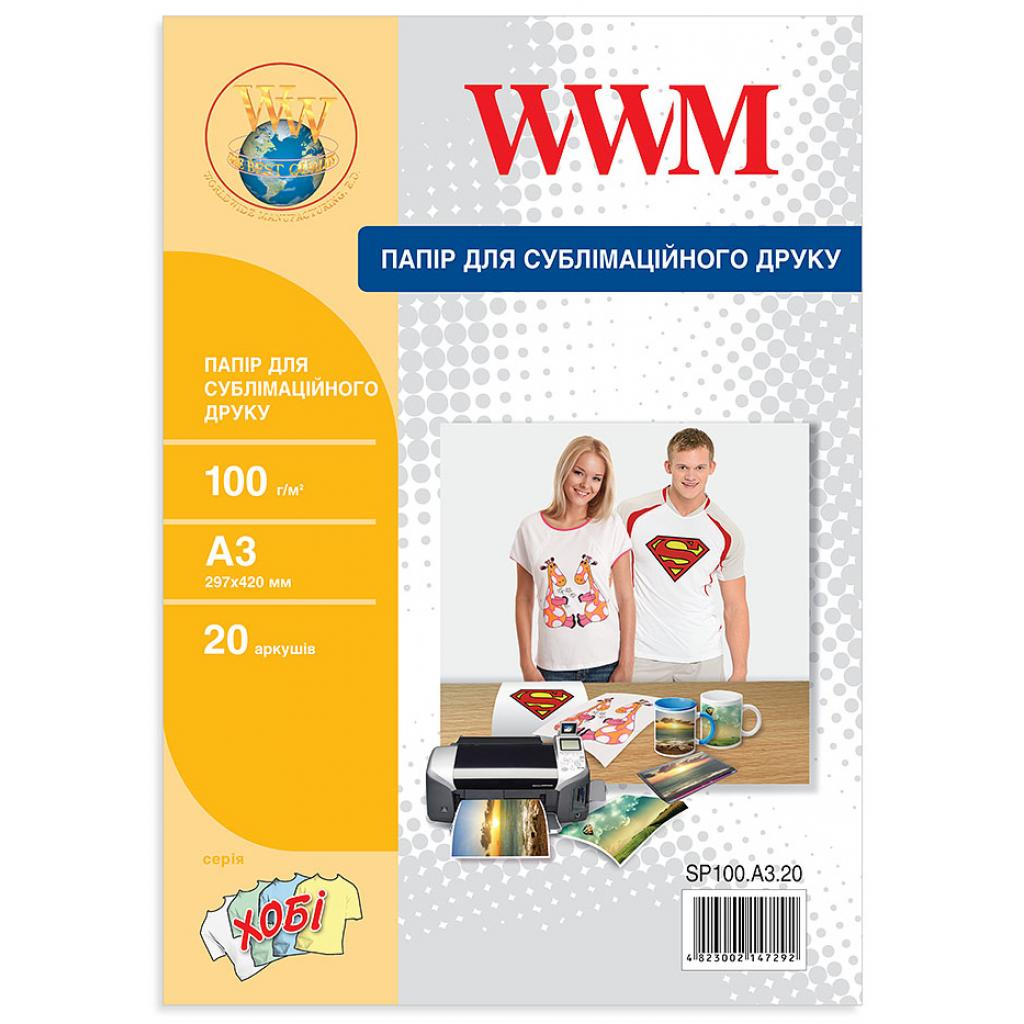 Бумага WWM A3 Sublimation (SP100.A3.20)