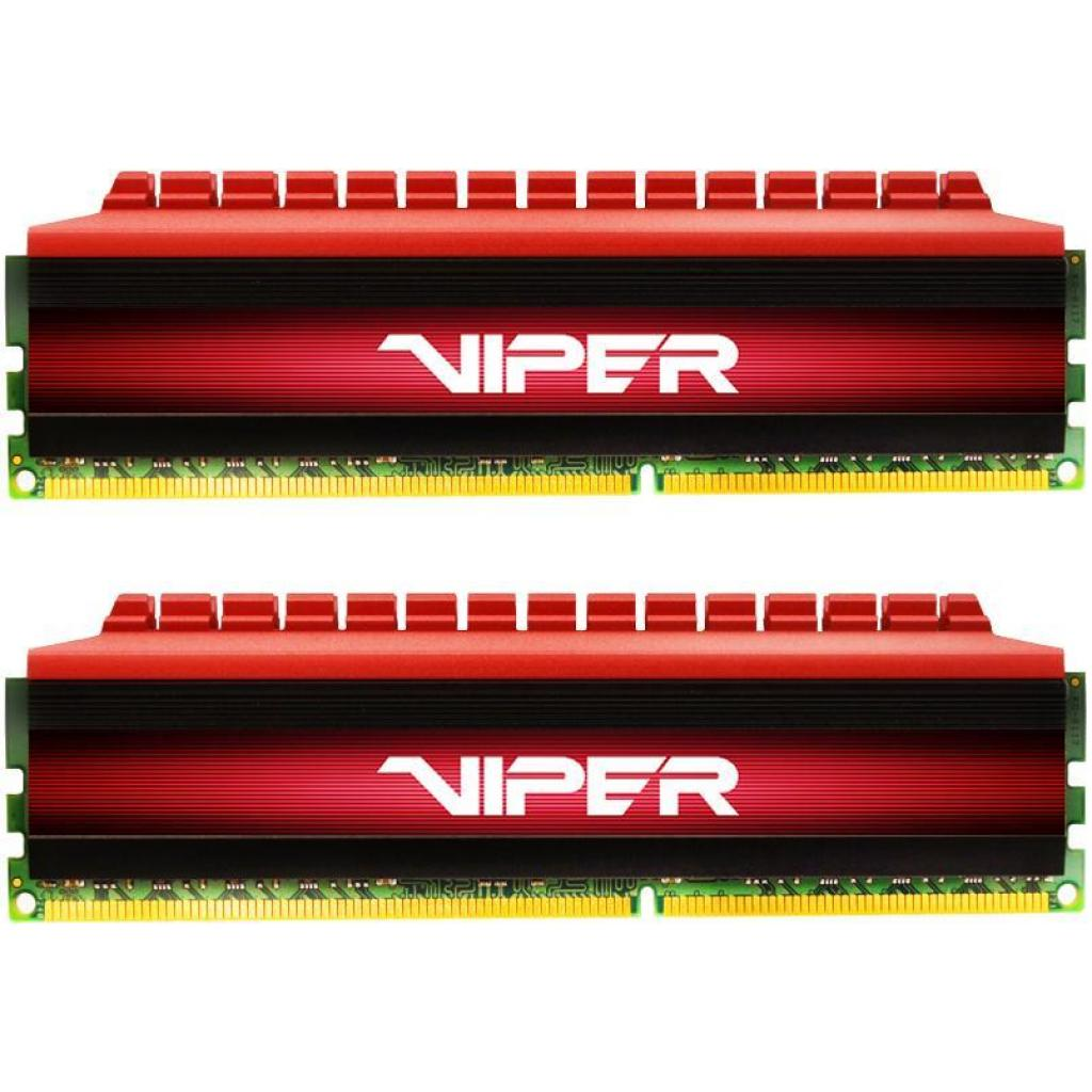 Модуль памяти для компьютера DDR4 8GB (2x4GB) 3200 MHz Viper 4 Red Patriot (PV48G320C6K)