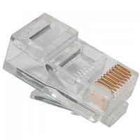 Конектор Ritar RJ45 cat.5e UTP 8P8C PREMIUM (позолоченные контакты) 100 шт (13193)
