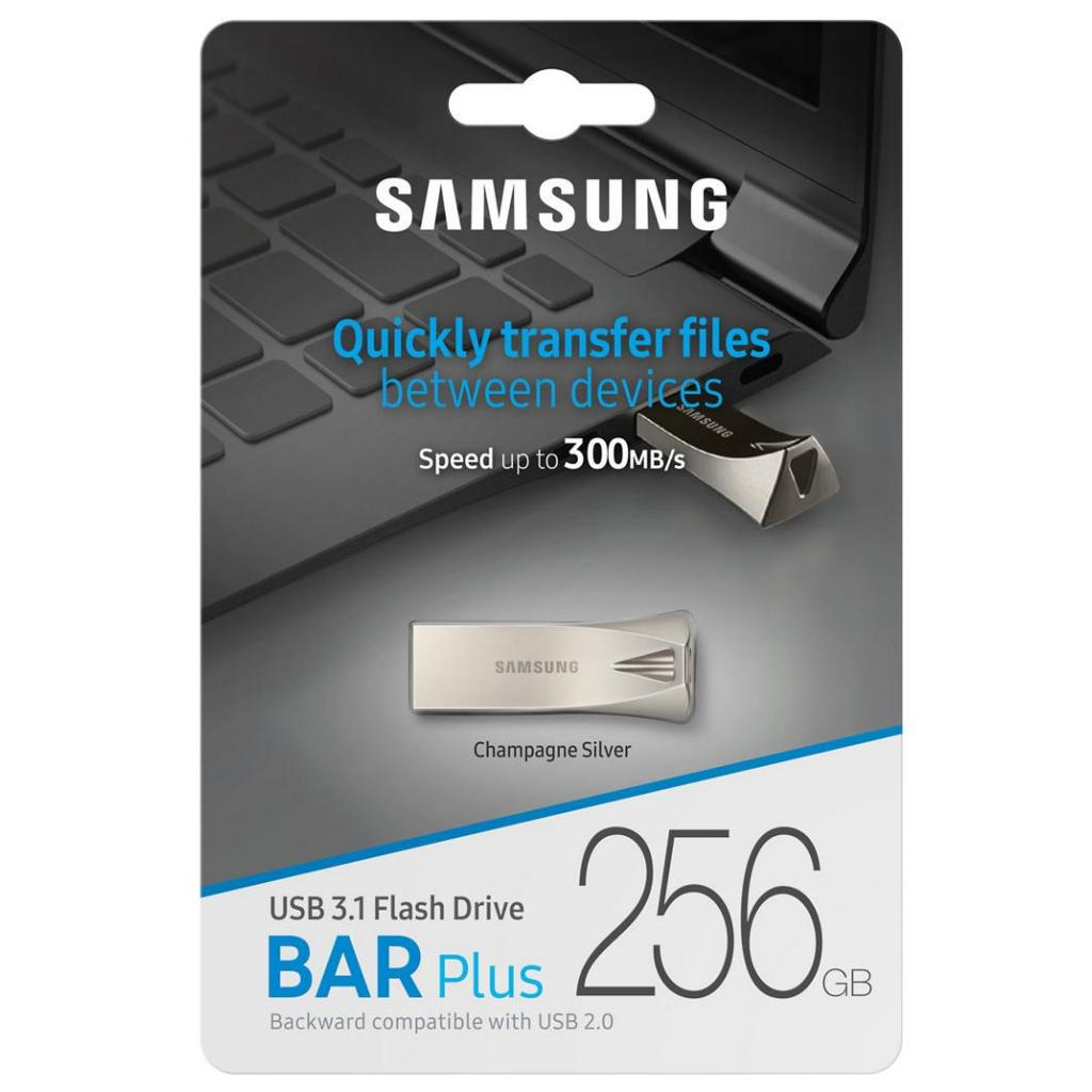 USB флеш накопитель Samsung 64GB Bar Plus Silver USB 3.1 (MUF-64BE3/APC) изображение 7