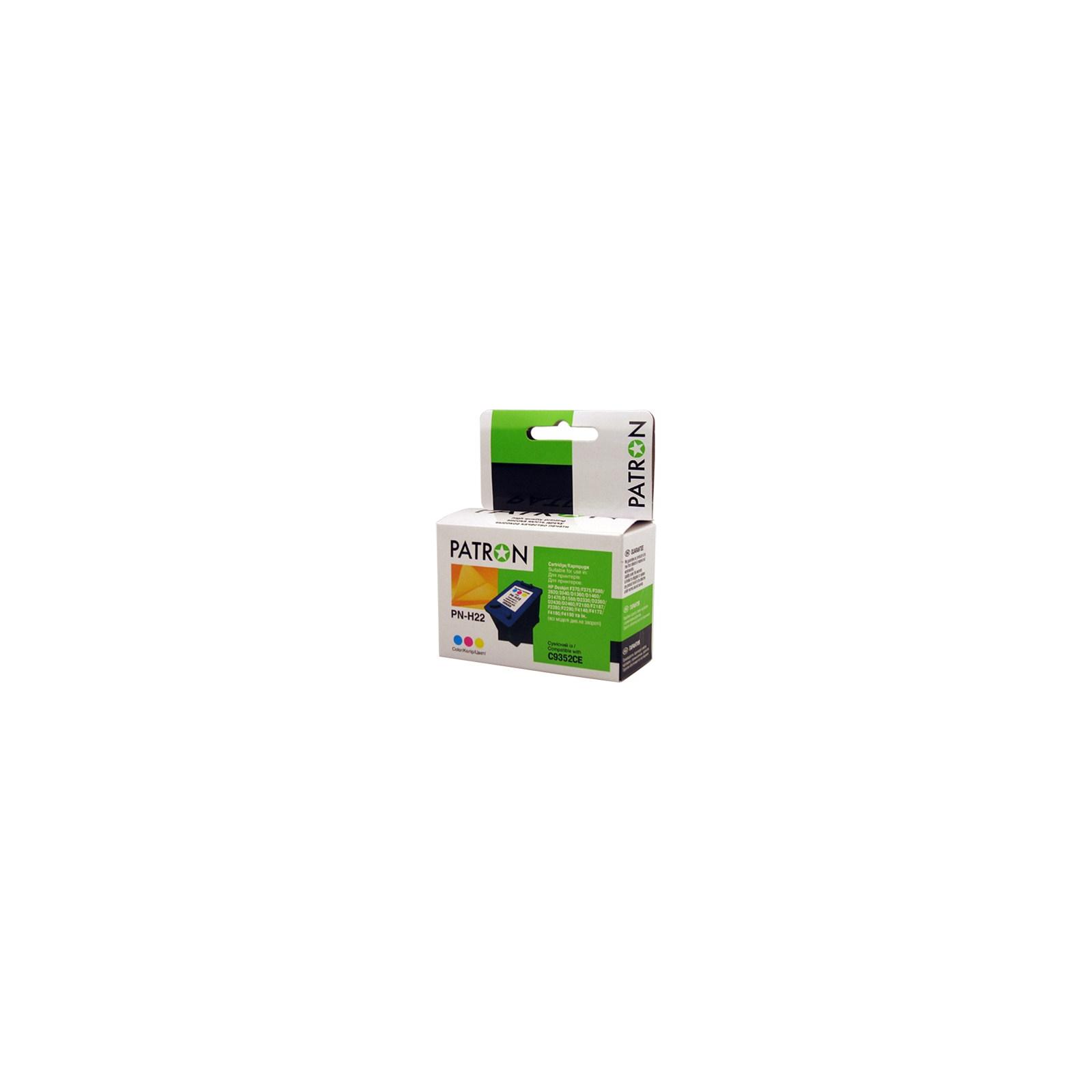 Картридж PATRON для HP PN-H22 COLOUR (C9352CE) (CI-HP-C9352CE-C-PN)