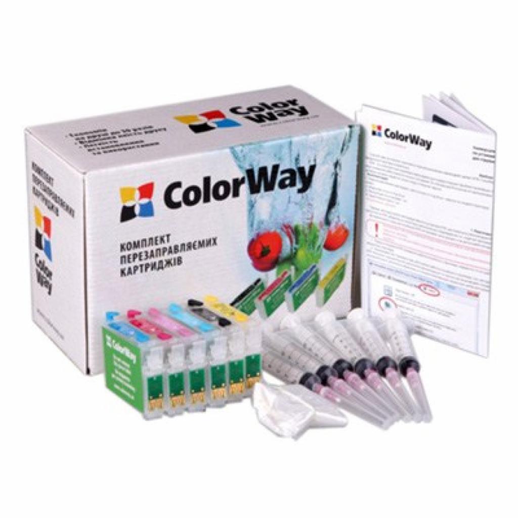 Комплект перезаправляемых картриджей ColorWay Epson P50/PX50/650/700 (без чрнл) (P50RC-0.0)