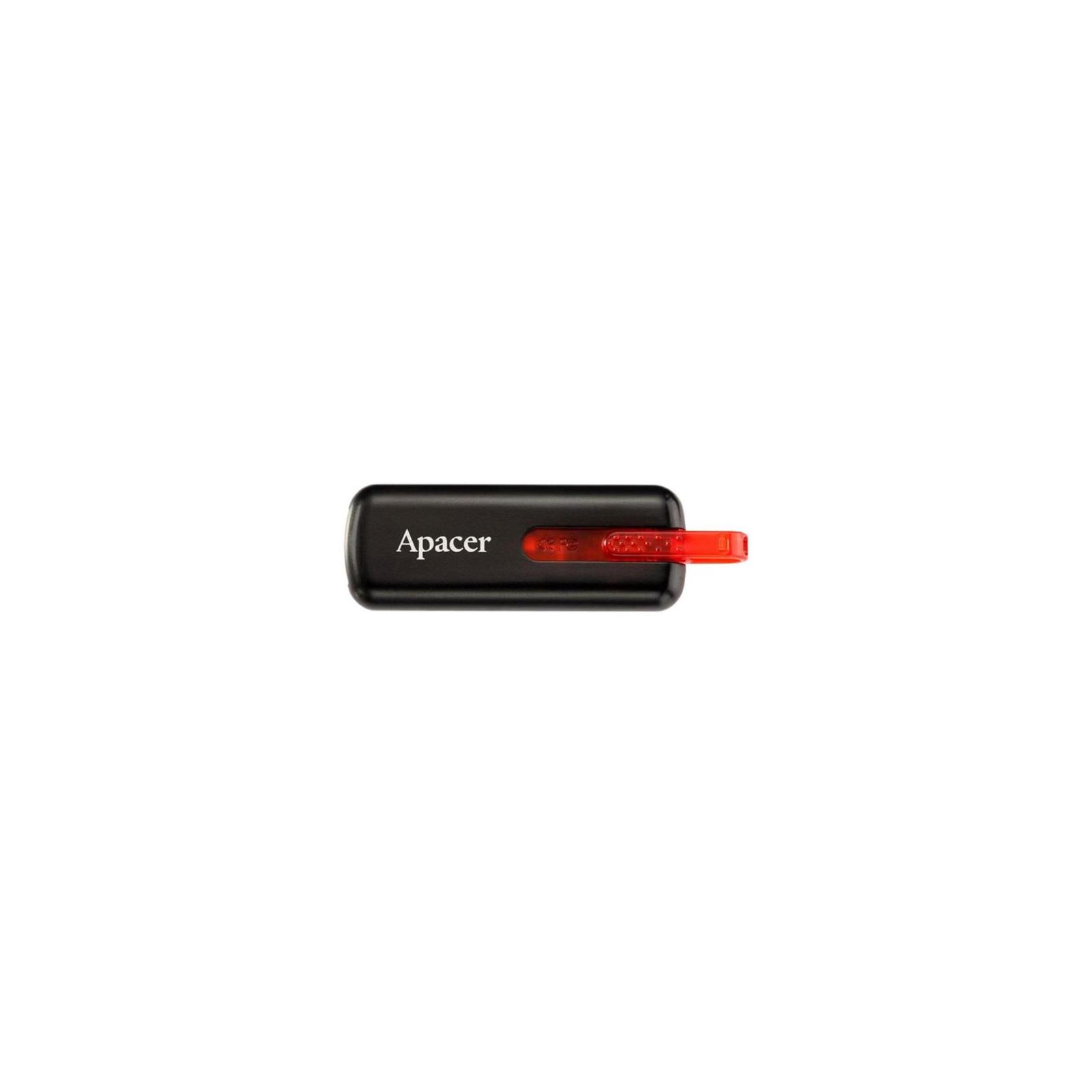 USB флеш накопитель 64GB AH326 Black RP USB2.0 Apacer (AP64GAH326B-1) изображение 3