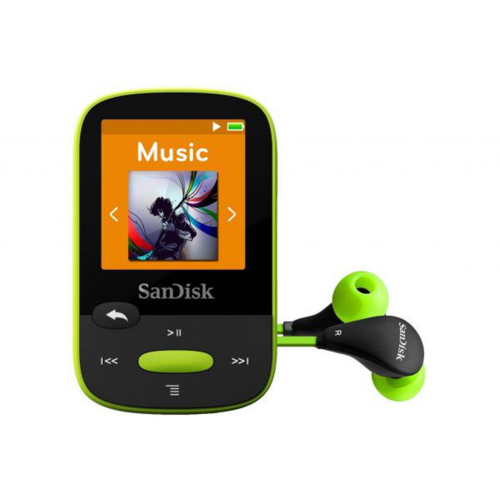 mp3 плеер SANDISK Sansa Clip Sport 8GB Lime (SDMX24-008G-G46L)