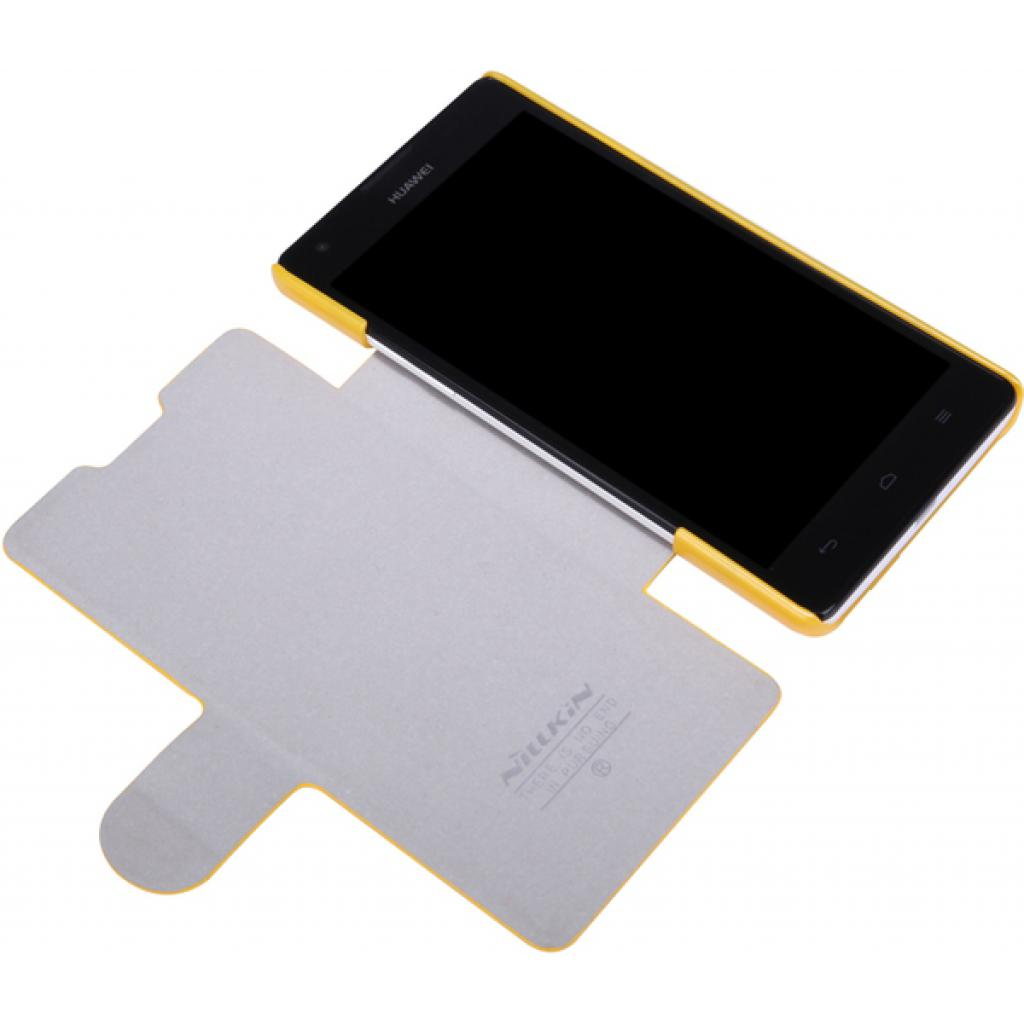 Чехол для моб. телефона NILLKIN для Huawei G700/Fresh/ Leather/Yellow (6076856) изображение 2