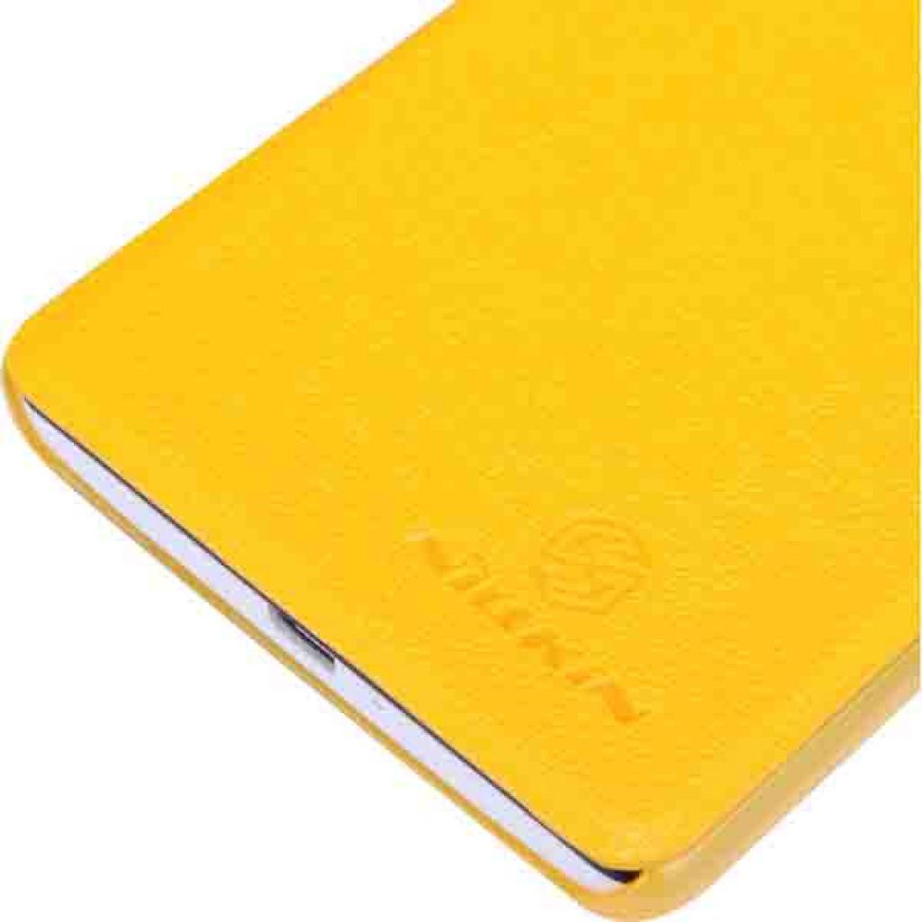 Чехол для моб. телефона NILLKIN для Huawei G700/Fresh/ Leather/Yellow (6076856) изображение 4