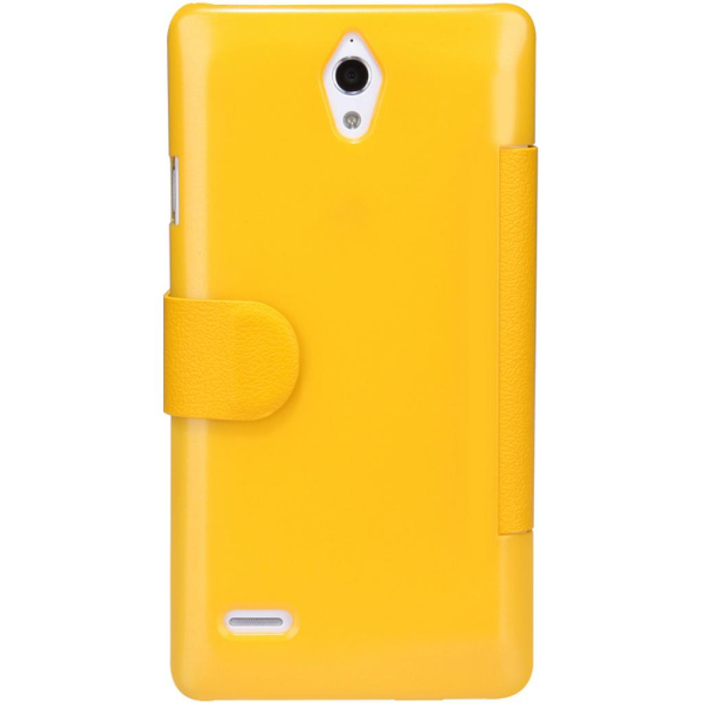 Чехол для моб. телефона NILLKIN для Huawei G700/Fresh/ Leather/Yellow (6076856) изображение 5