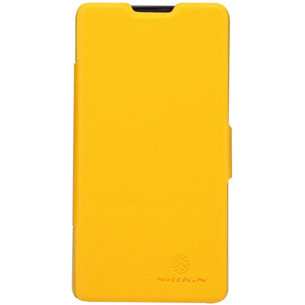 Чехол для моб. телефона NILLKIN для Huawei G700/Fresh/ Leather/Yellow (6076856)
