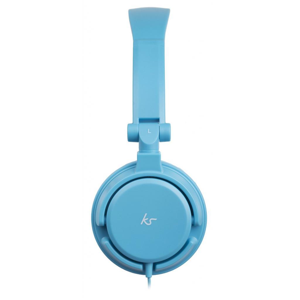 Наушники KitSound KS iD On-Ear Headphones with In-Line Mic Blue (KSIDBL) изображение 3
