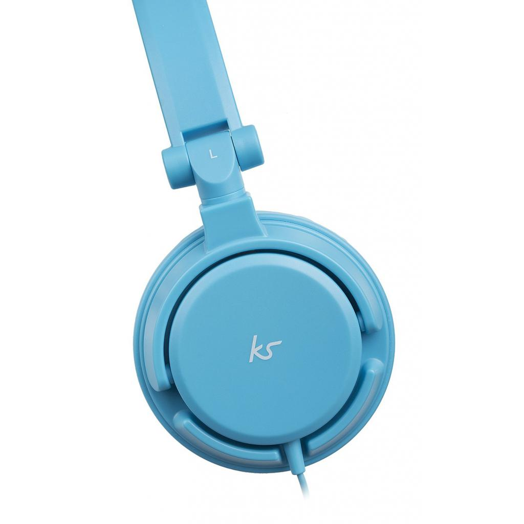 Наушники KitSound KS iD On-Ear Headphones with In-Line Mic Blue (KSIDBL) изображение 4