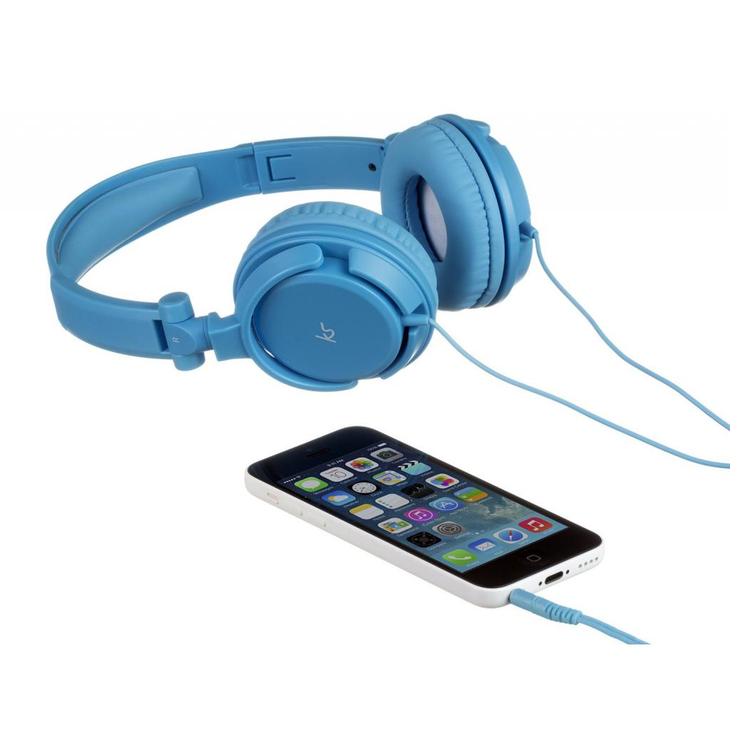 Наушники KitSound KS iD On-Ear Headphones with In-Line Mic Blue (KSIDBL) изображение 5