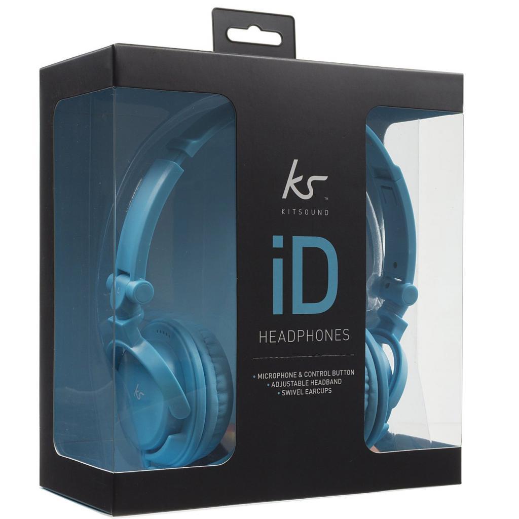Наушники KitSound KS iD On-Ear Headphones with In-Line Mic Blue (KSIDBL) изображение 6