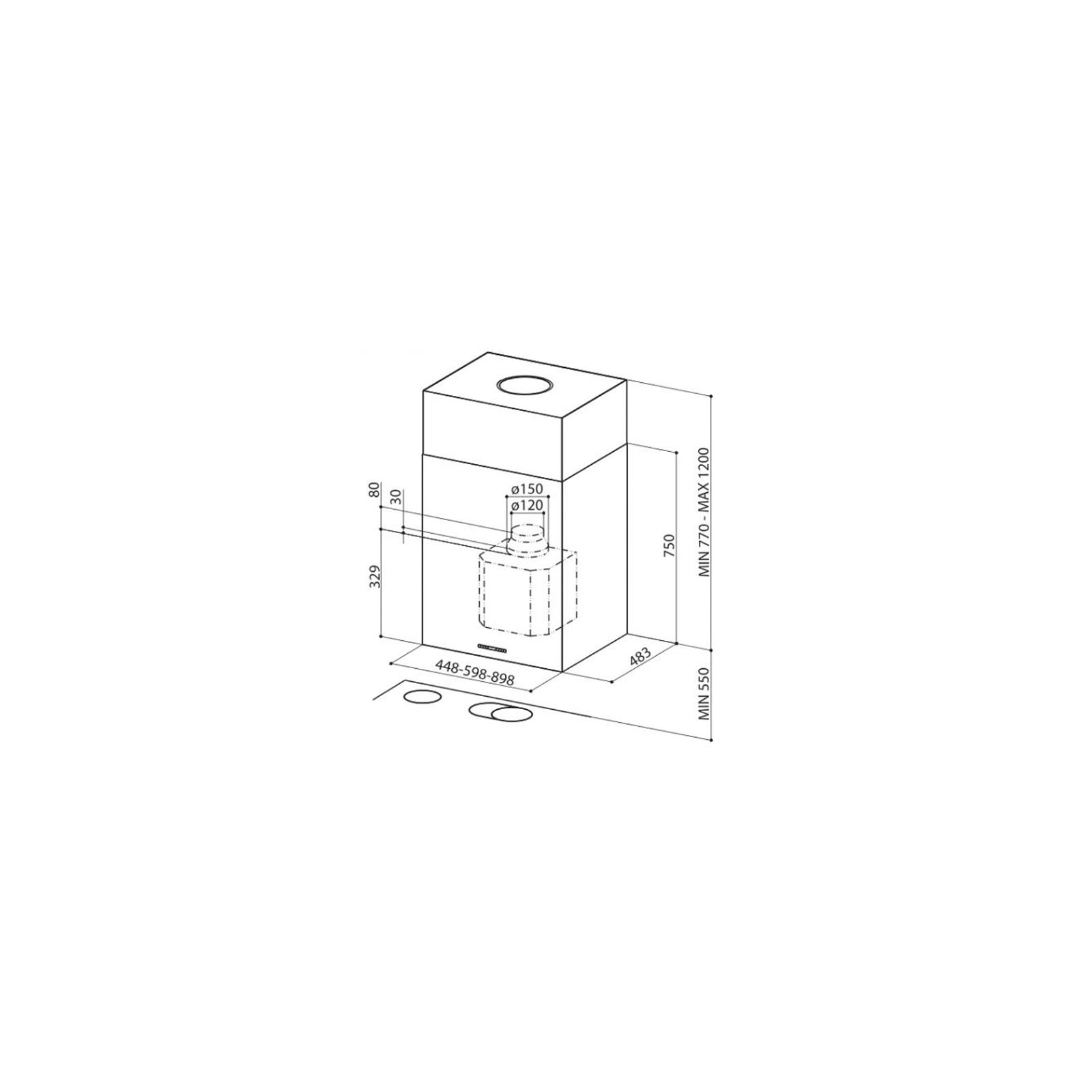 Вытяжка кухонная FABER CUBIA ISOLA EG10 X A60 ACTIVE изображение 2