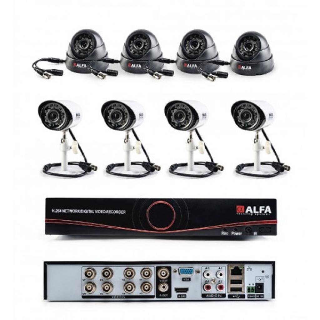 Комплект видеонаблюдения ALFA Mix 4x4