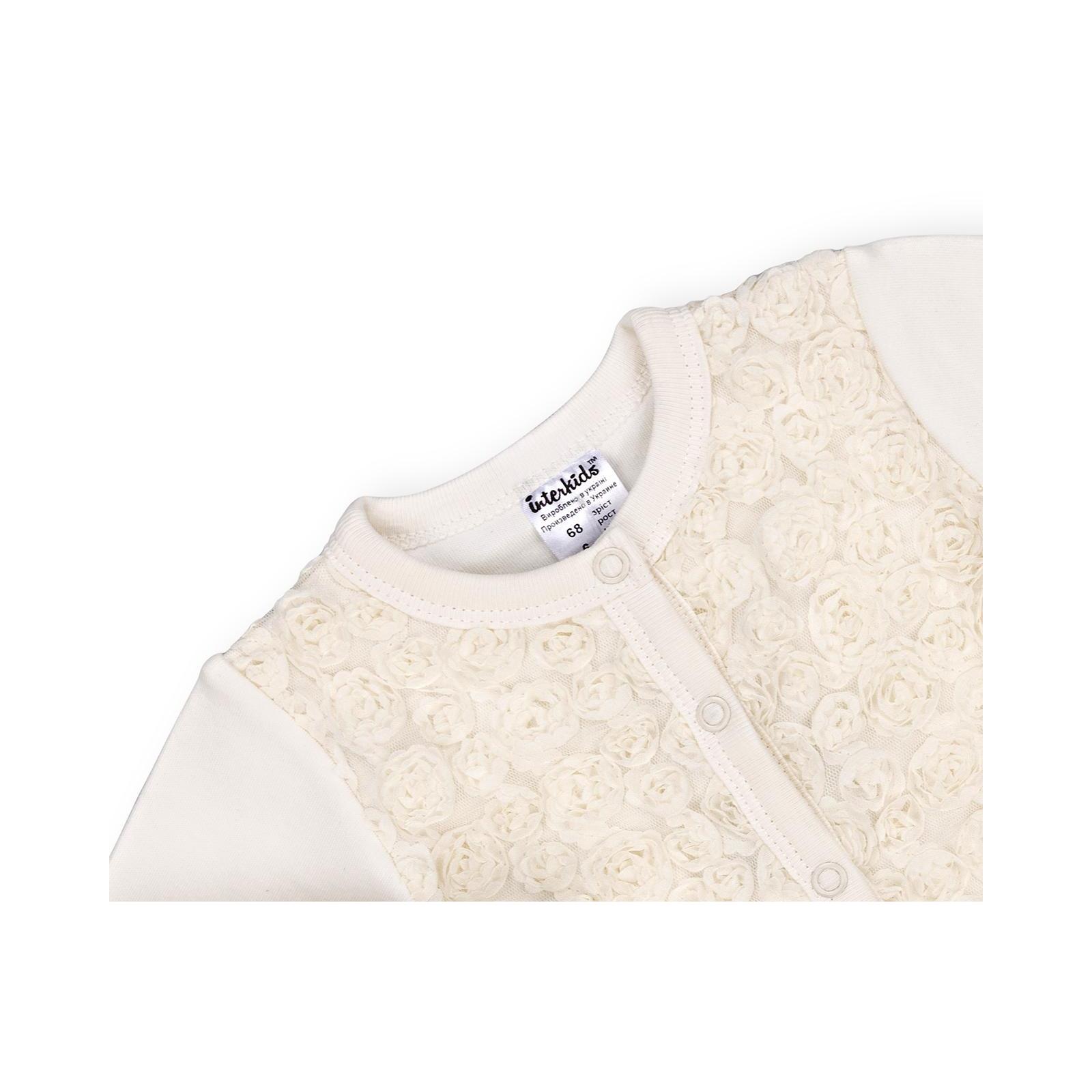 Набор детской одежды Интеркидс с розочками (2364-74G-beige) изображение 7