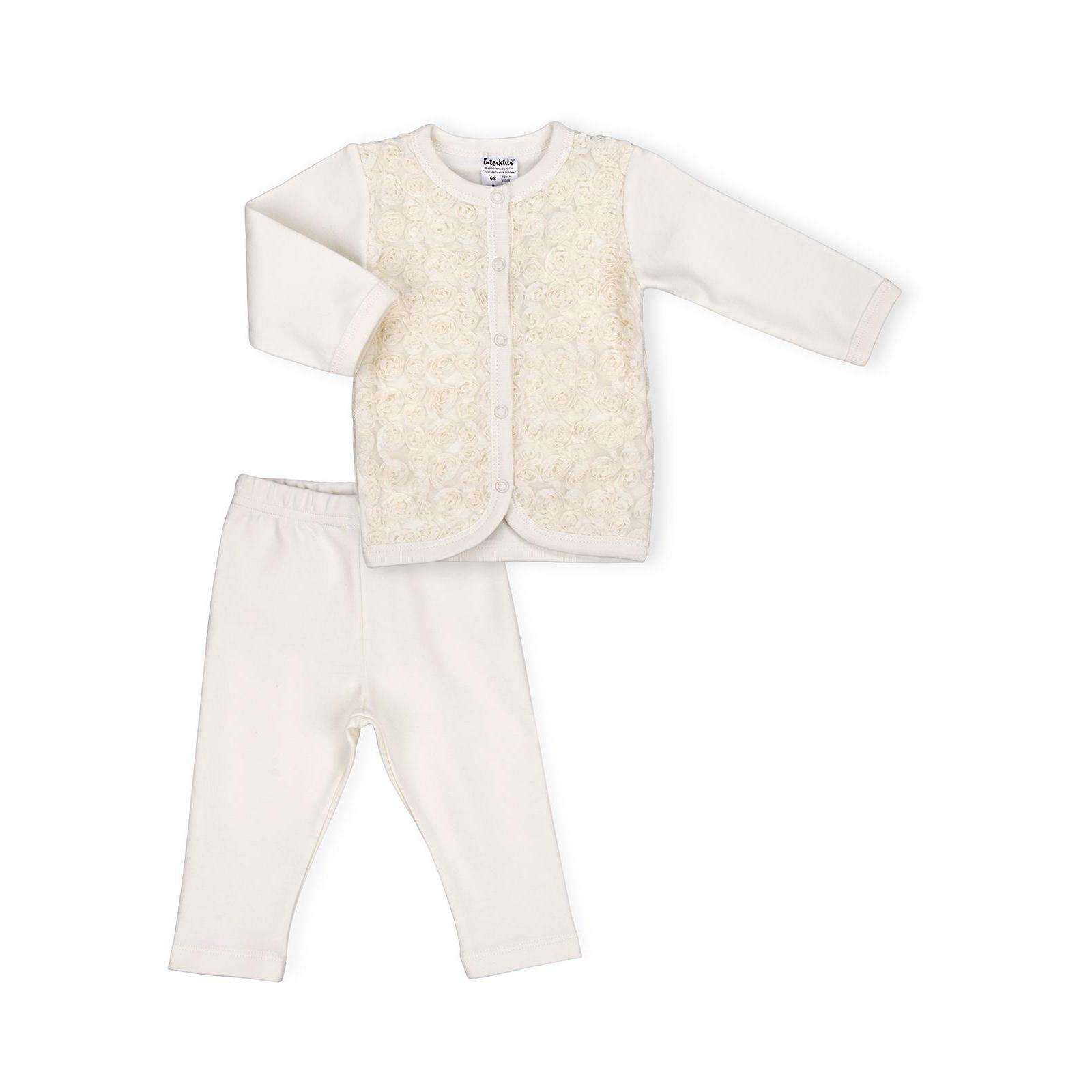Набор детской одежды Интеркидс с розочками (2364-74G-beige)