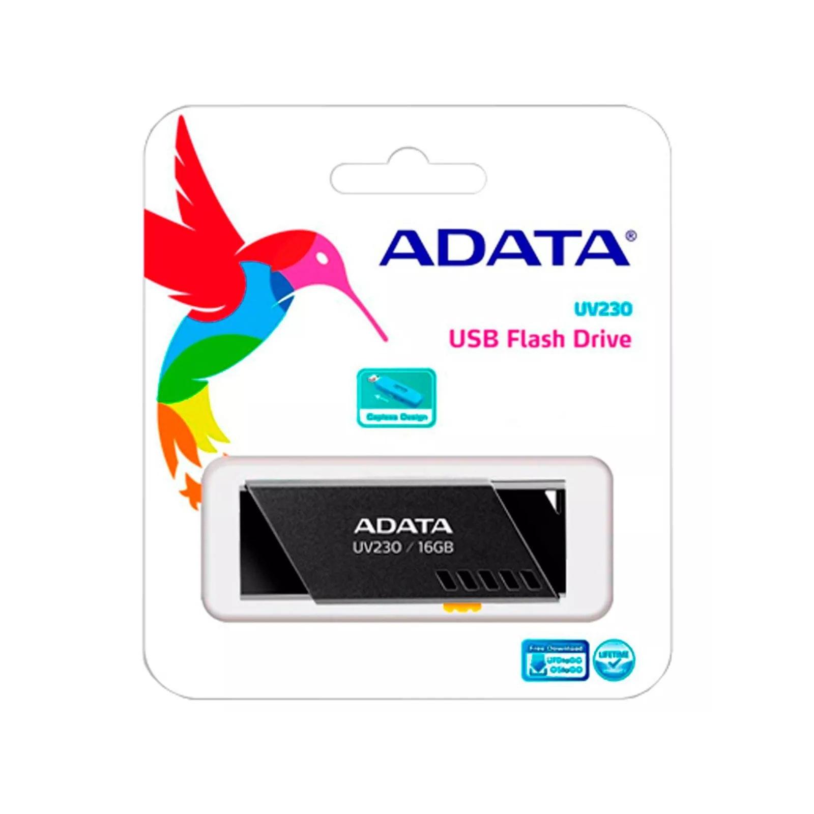 USB флеш накопитель ADATA 16GB UV230 Blue USB 2.0 (AUV230-16G-RBL) изображение 3