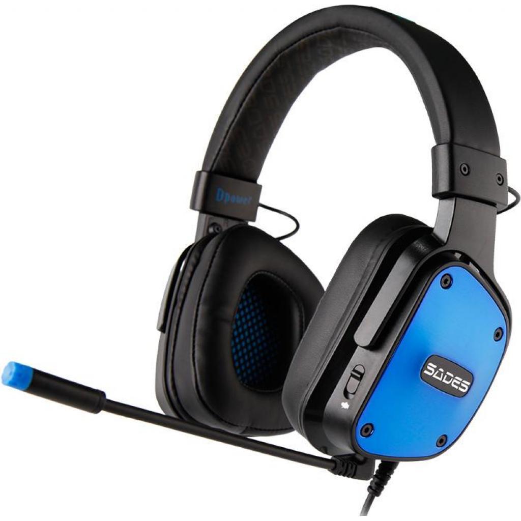 Наушники SADES Dpower Black/Blue (SA722-B-BL)
