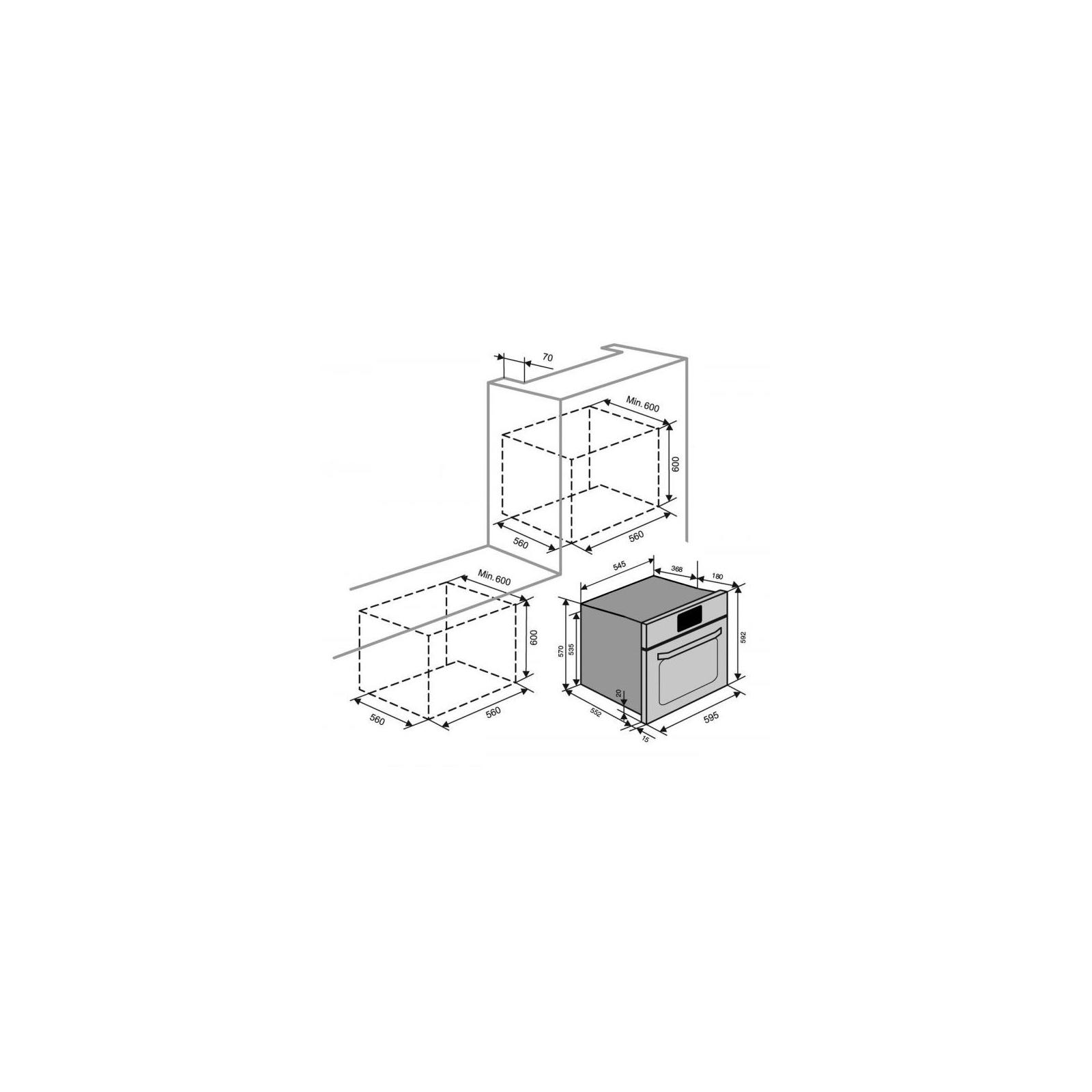 Духовой шкаф VENTOLUX MWEO 39 G BK изображение 6