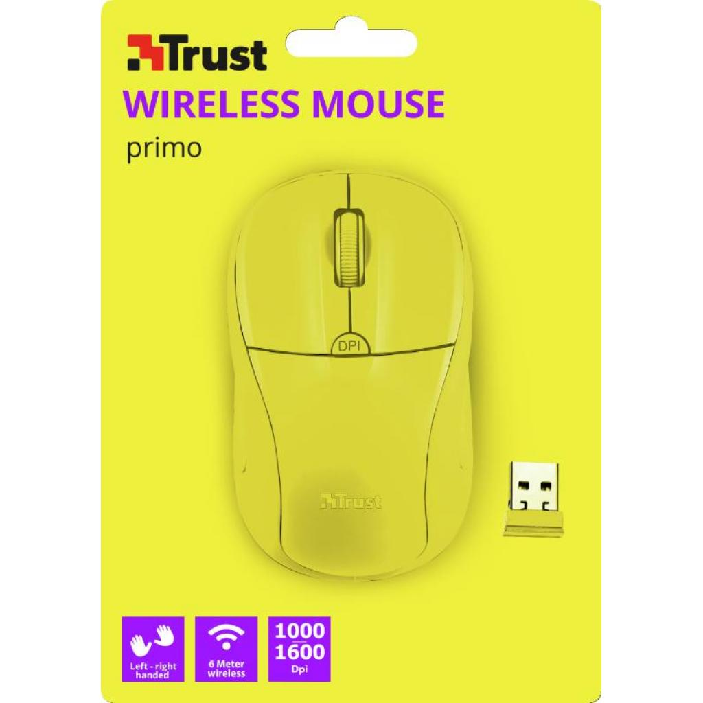 Мышка Trust Primo Wireless Mouse Red (20787) изображение 5