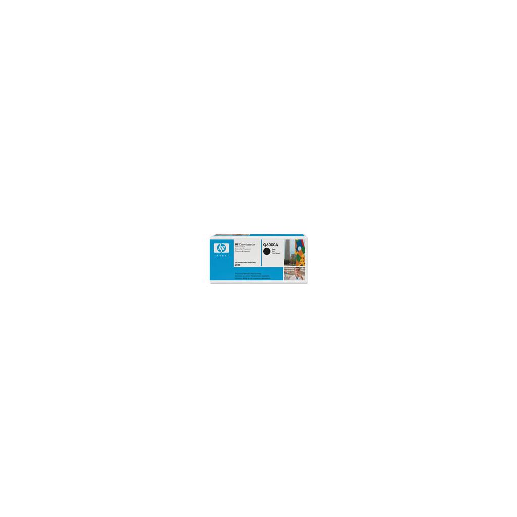 Картридж HP CLJ  124A Black, CLJ 1600/2600 (Q6000A)