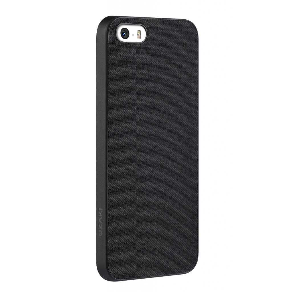 Чехол для моб. телефона OZAKI iPhone 5/5S O!coat 0.3+ Canvas ultra slim Black (OC543BK) изображение 3