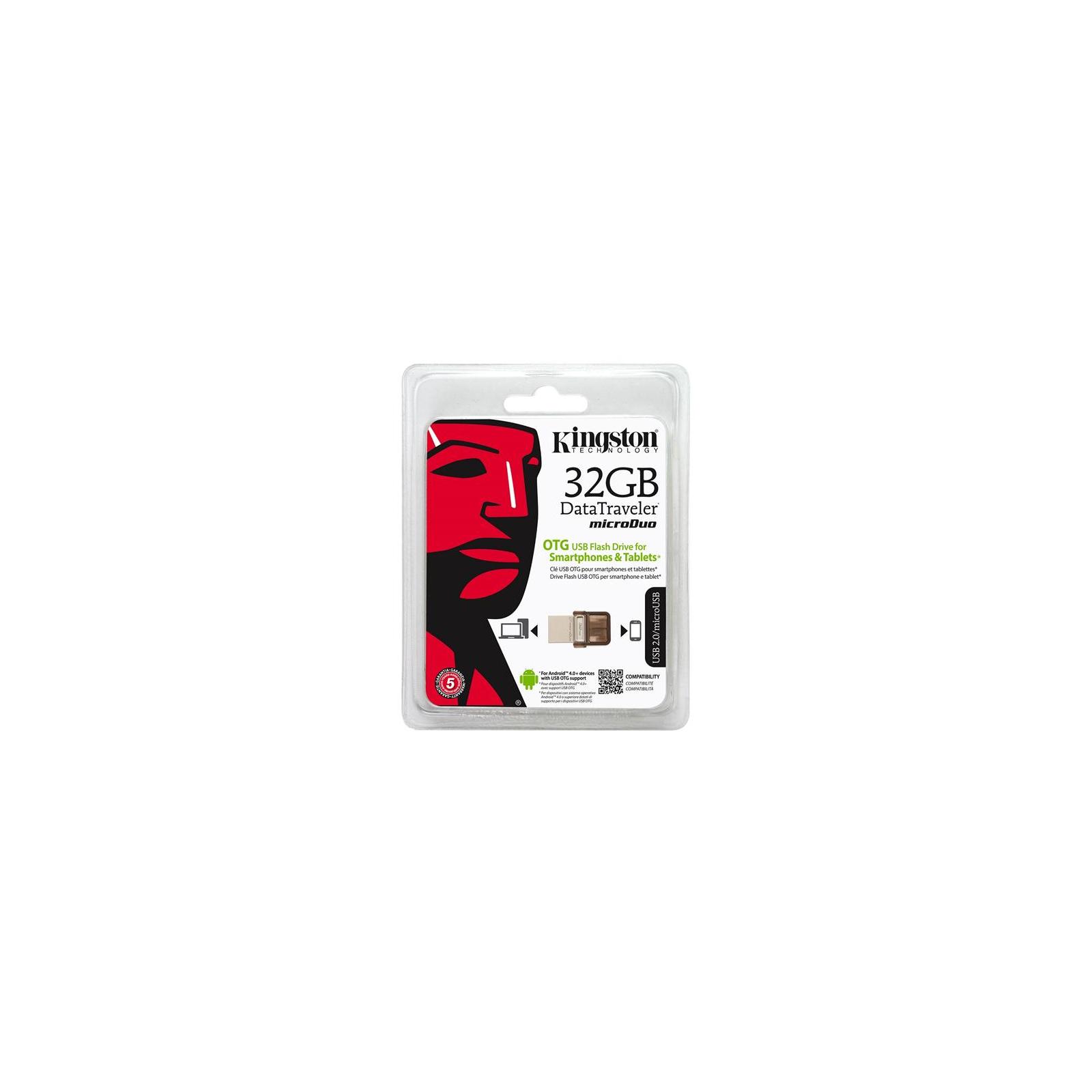 USB флеш накопитель Kingston 32Gb DT MicroDuo (DTDUO/32GB) изображение 9