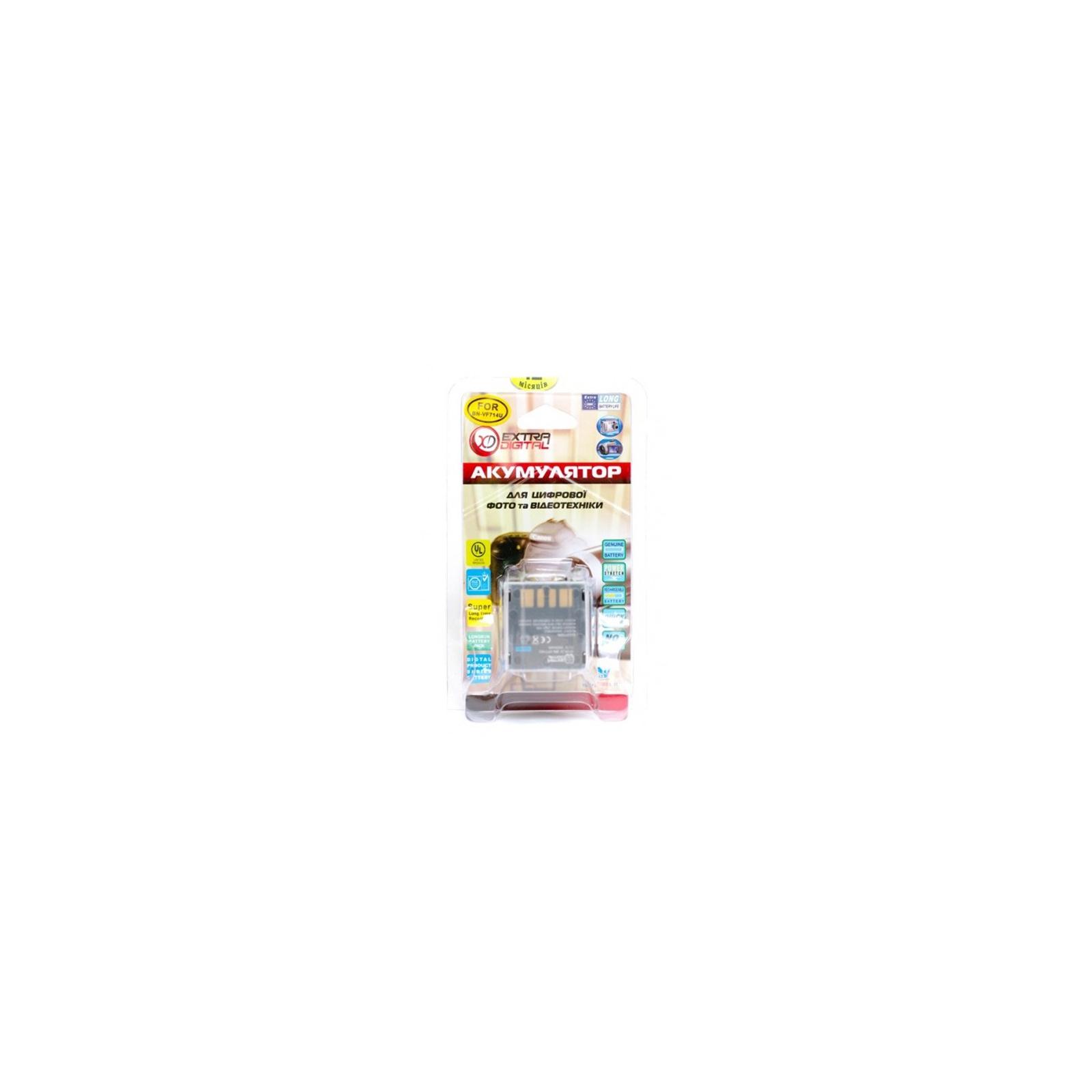Аккумулятор к фото/видео EXTRADIGITAL JVC BN-VF714U (DV00DV1179) изображение 3