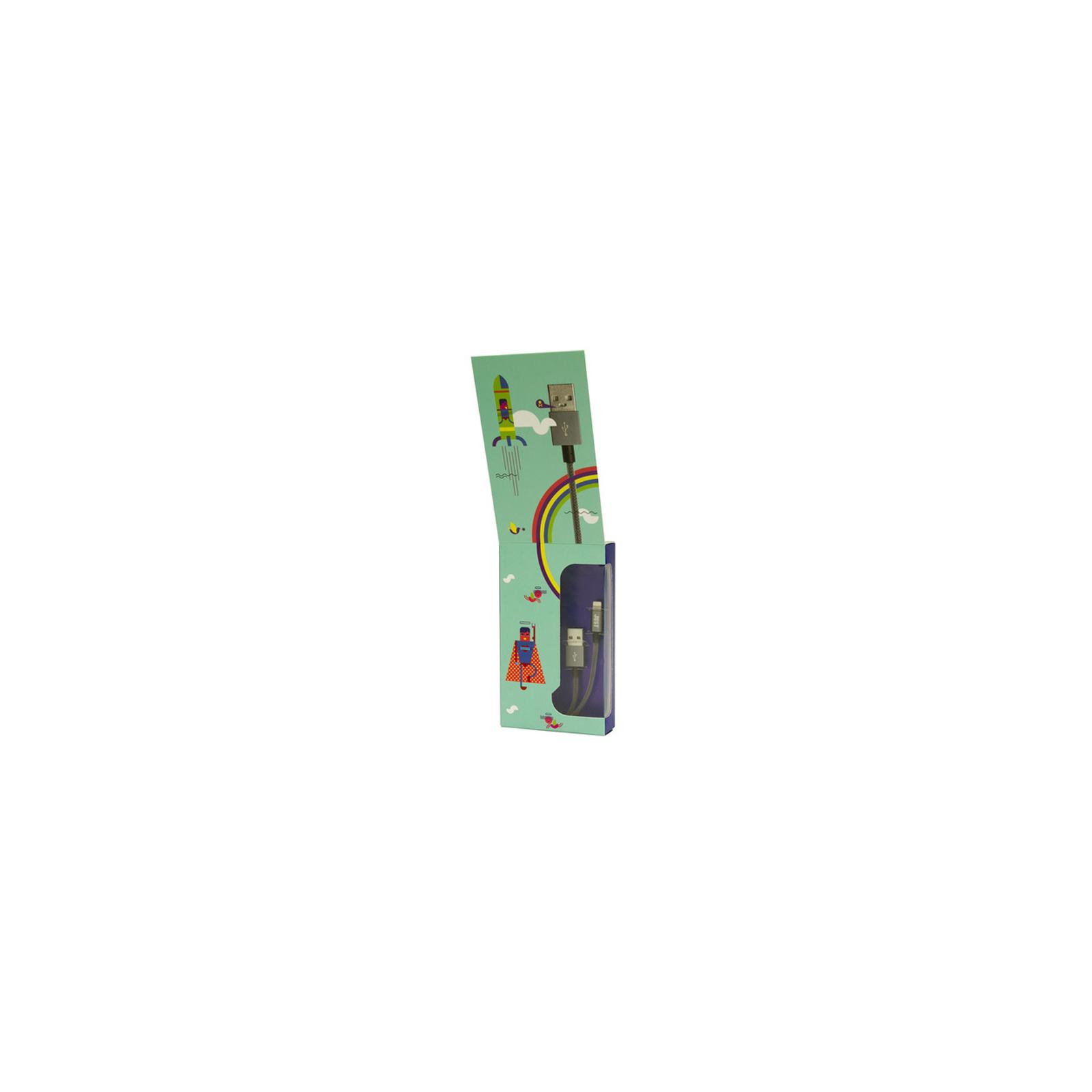 Дата кабель JUST Selection Lightning USB Cable Grey (LGTNG-SLCN-GR) изображение 3