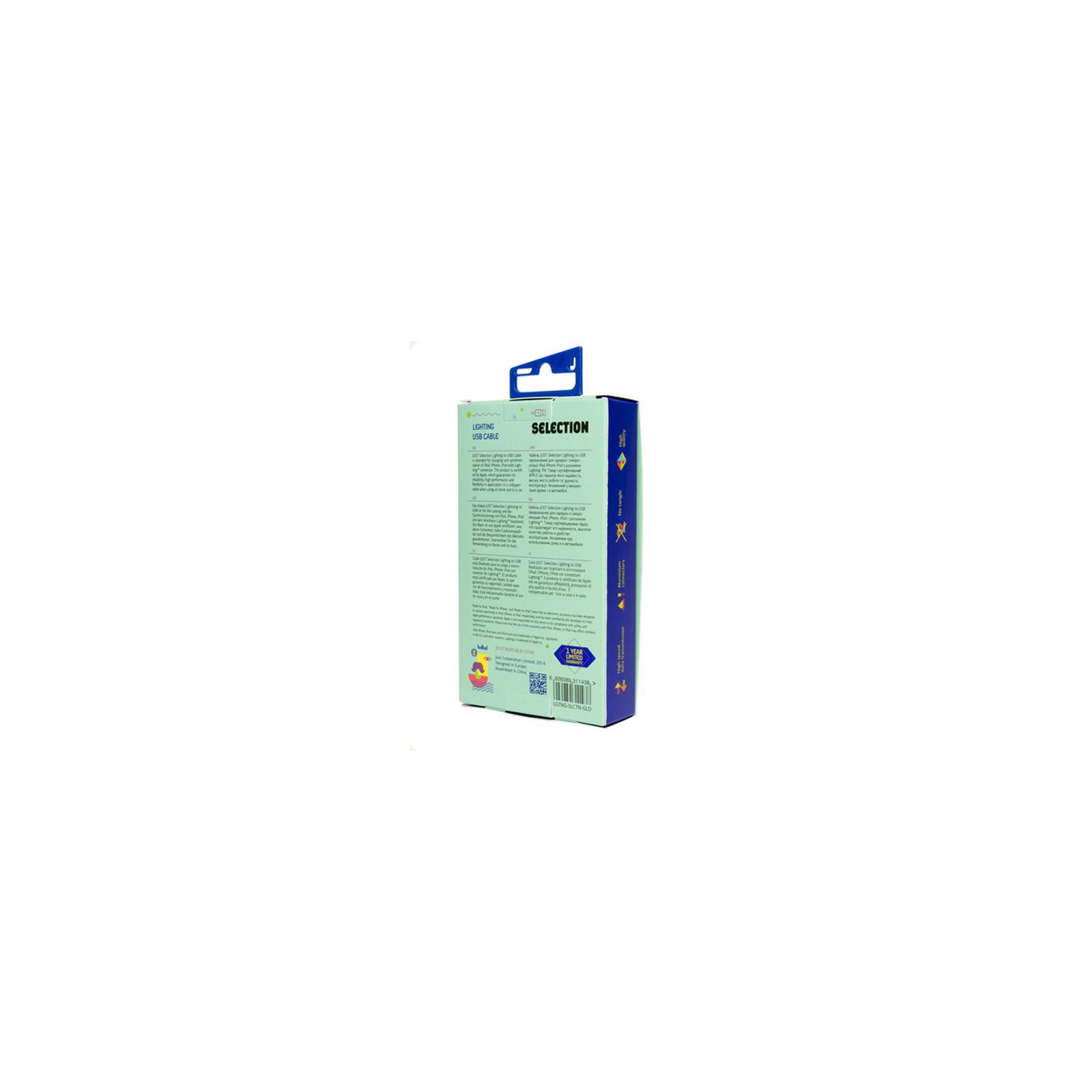 Дата кабель JUST Selection Lightning USB Cable Grey (LGTNG-SLCN-GR) изображение 5