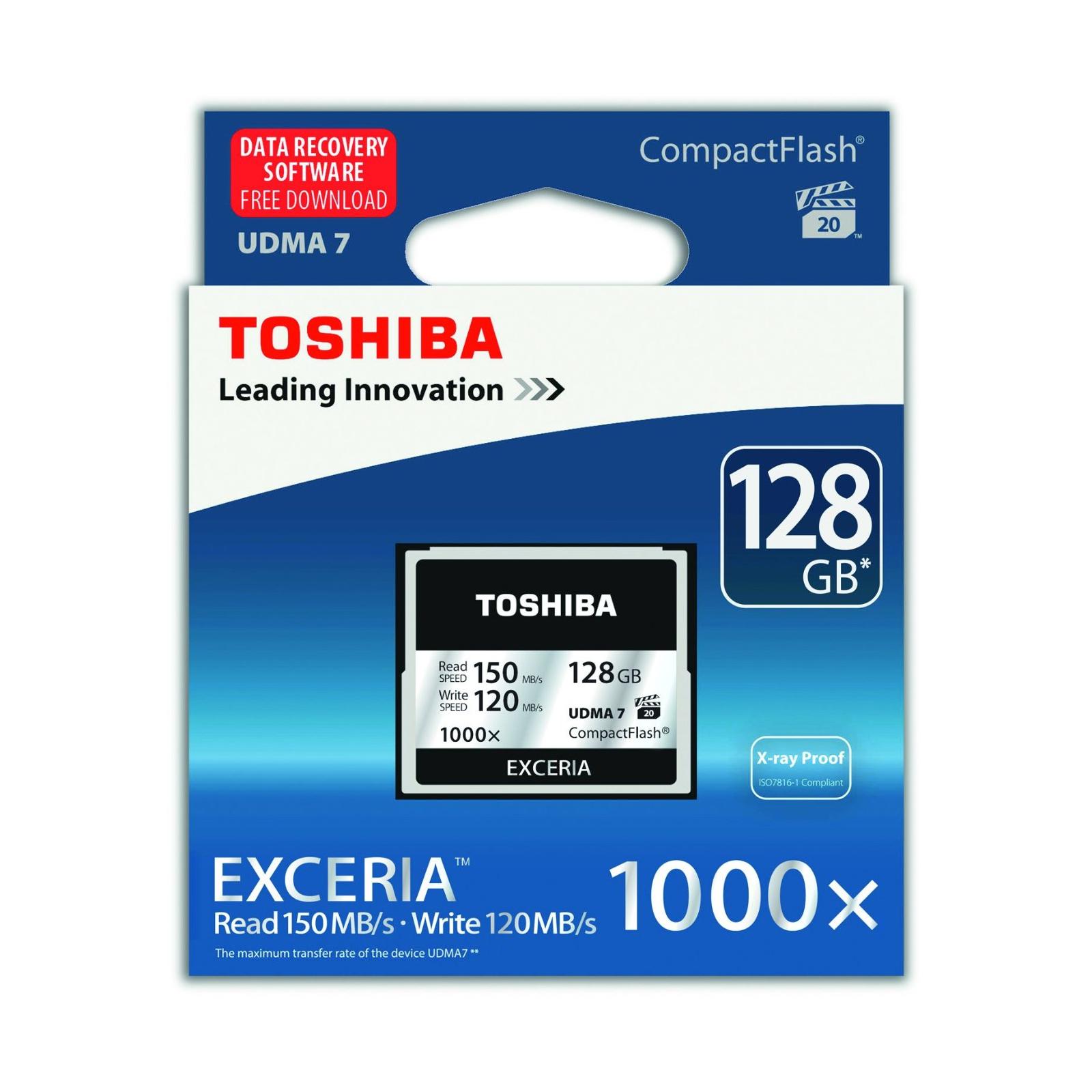 Карта памяти TOSHIBA 128GB Compact Flash 1000X (CF-128GTGI(8) изображение 2