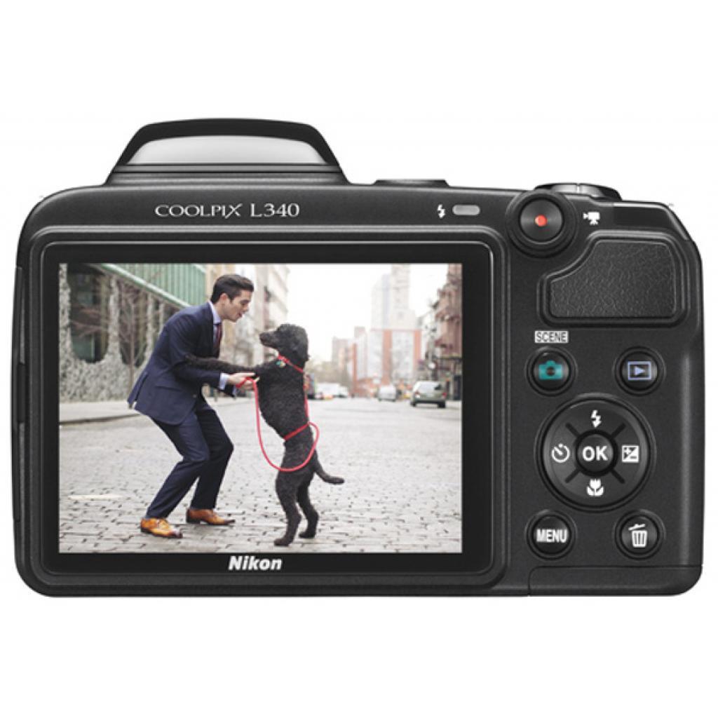 Цифровой фотоаппарат Nikon Coolpix L340 Black (VNA780E1) изображение 4