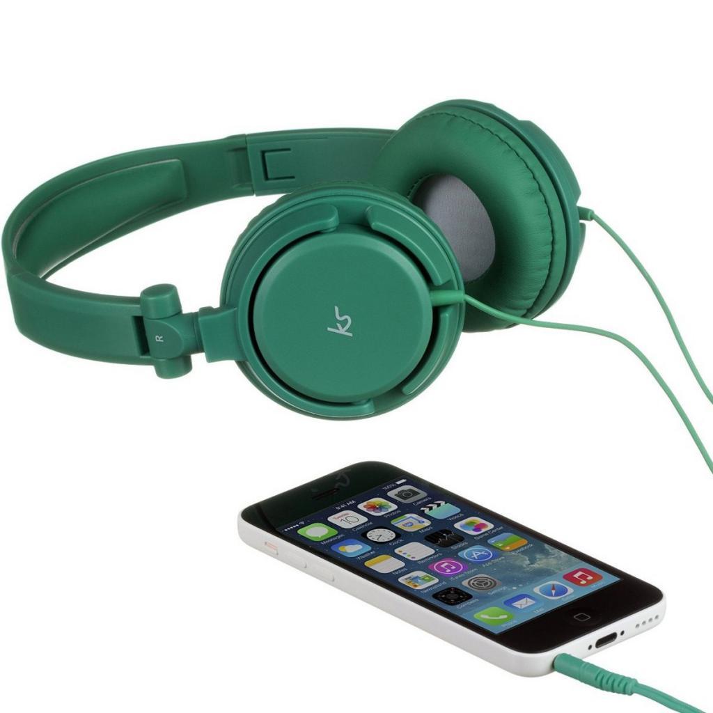 Наушники KitSound KS iD On-Ear Headphones with In-Line Mic Green (KSIDGR) изображение 4