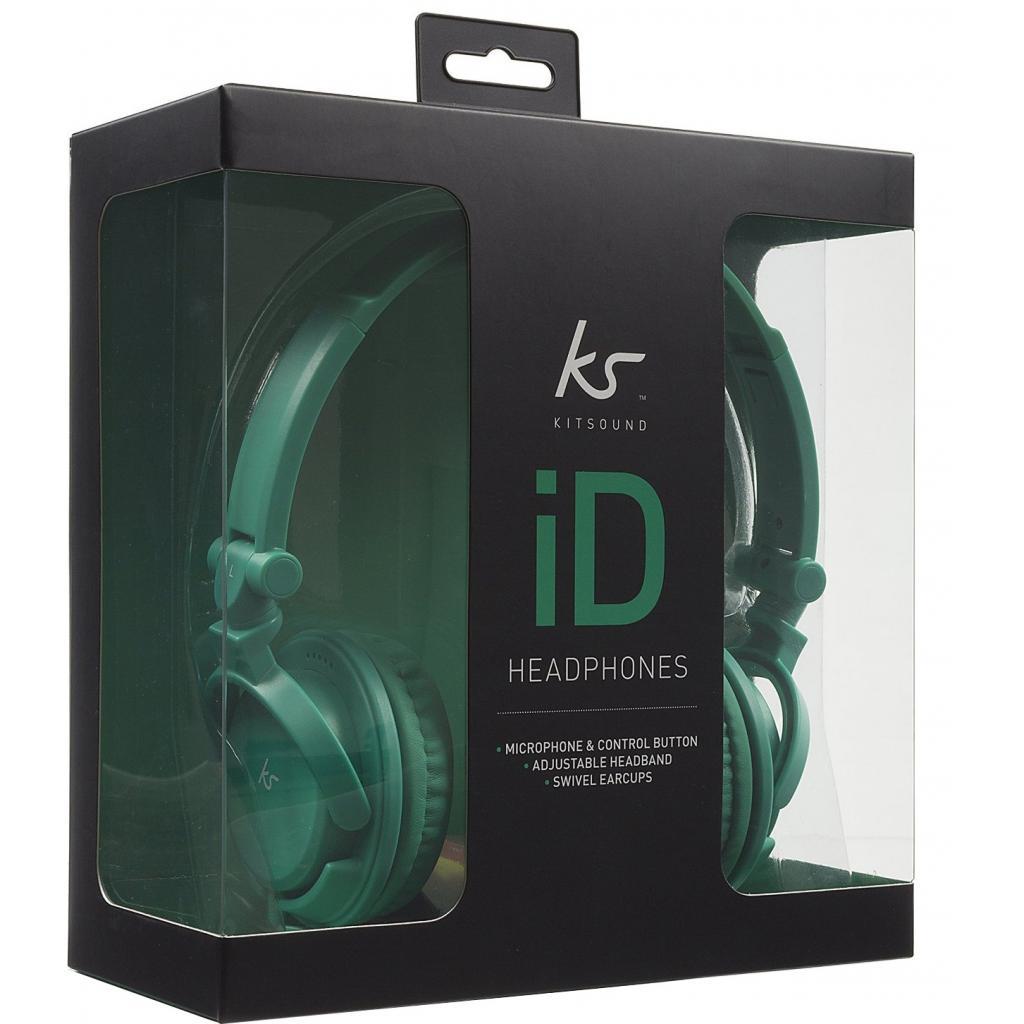 Наушники KitSound KS iD On-Ear Headphones with In-Line Mic Green (KSIDGR) изображение 5