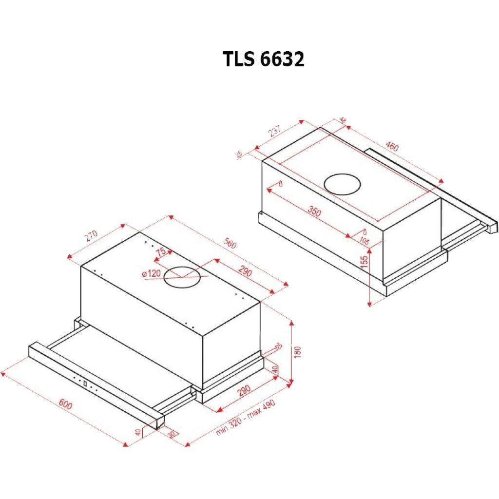 Вытяжка кухонная PERFELLI TLS 6632 W LED изображение 7