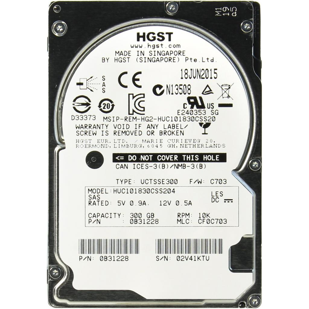 Жесткий диск для сервера 300GB Hitachi HGST (0B31228 / HUC101830CSS204)