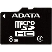 Карта памяти ADATA 8GB microSD class 4 (AUSDH8GCL4-R)