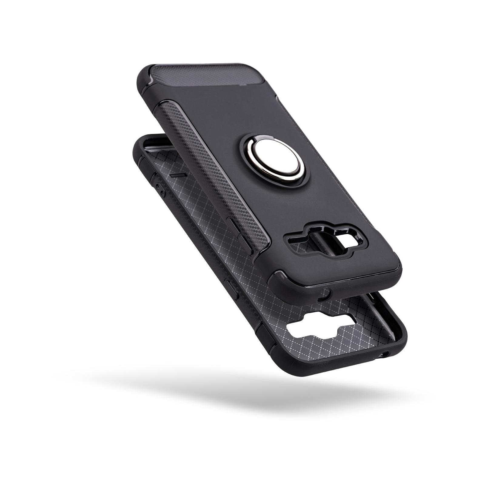 Чехол для моб. телефона Laudtec для Samsung J3 2016/J320 Ring stand (black) (LR-J320-BC) изображение 2