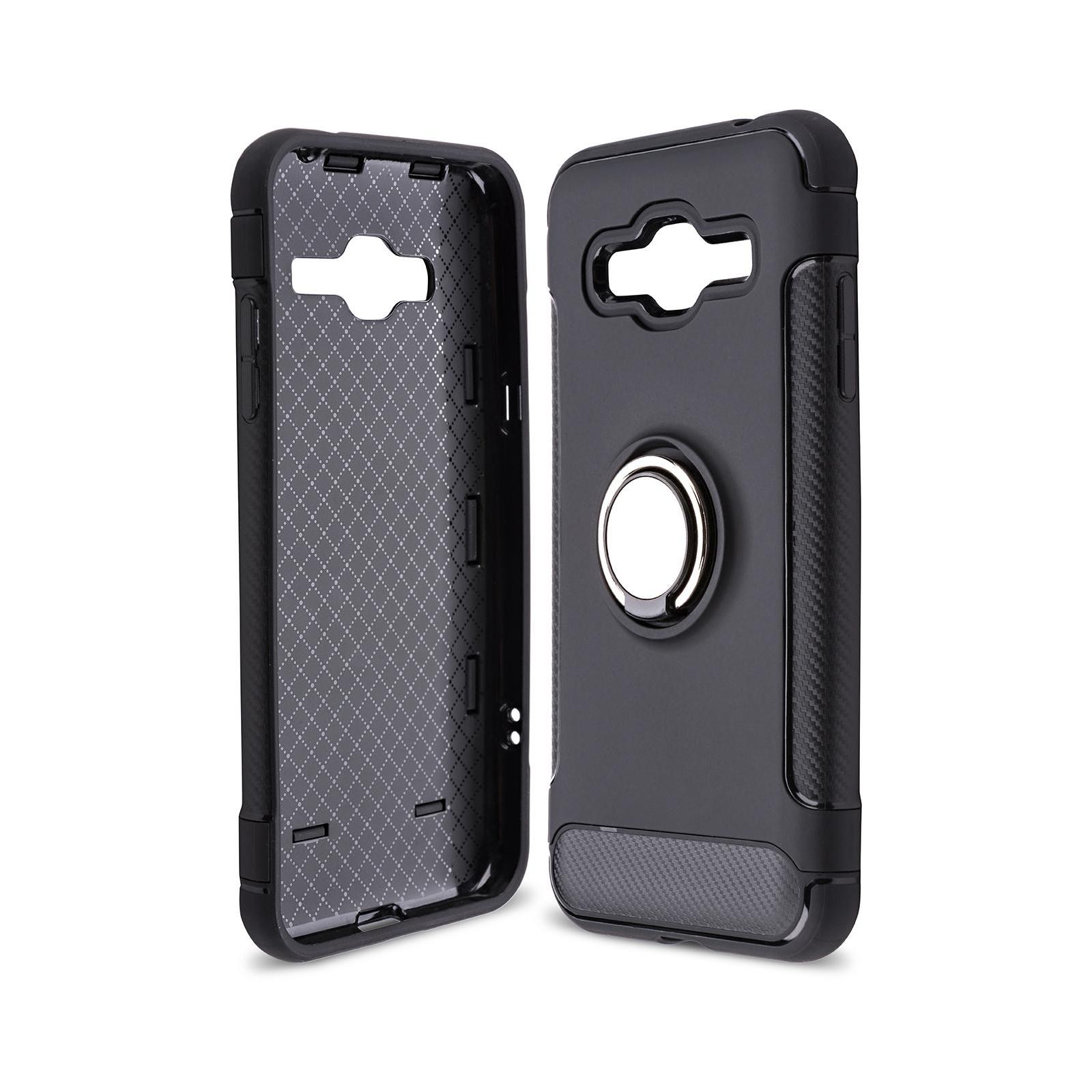 Чехол для моб. телефона Laudtec для Samsung J3 2016/J320 Ring stand (black) (LR-J320-BC)