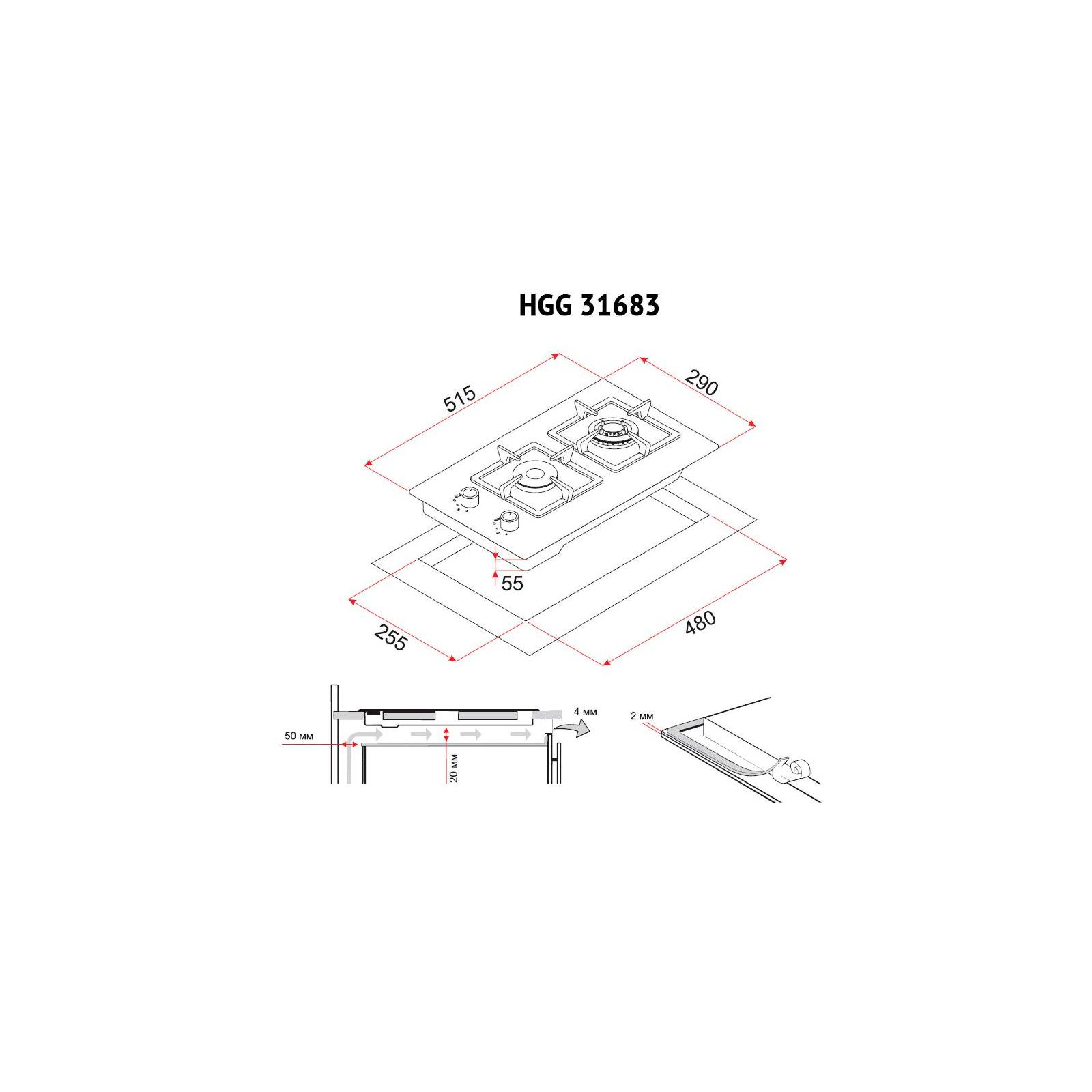Варочная поверхность PERFELLI HGG 31683 BL изображение 8