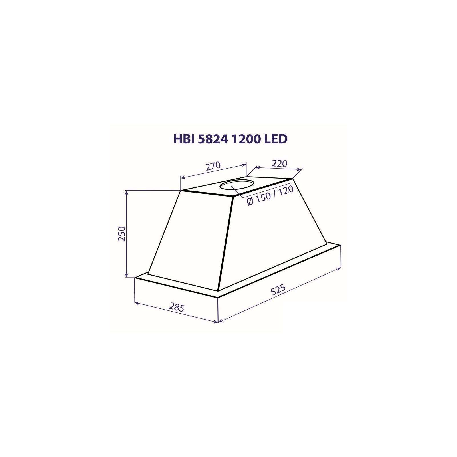 Вытяжка кухонная MINOLA HBI 5824 BL 1200 LED изображение 4