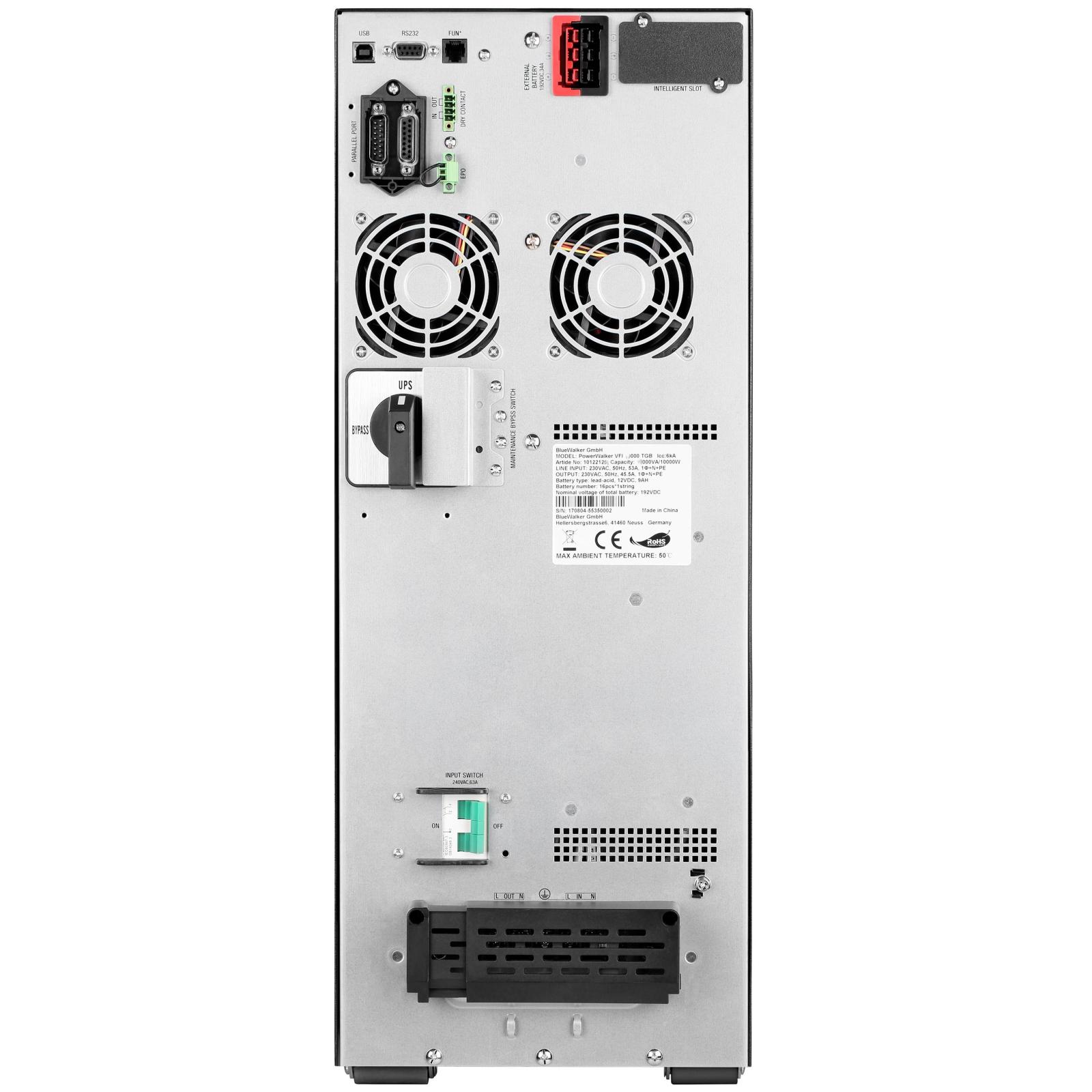Источник бесперебойного питания PowerWalker VFI 6000 TGB PF1 (10122124) изображение 4