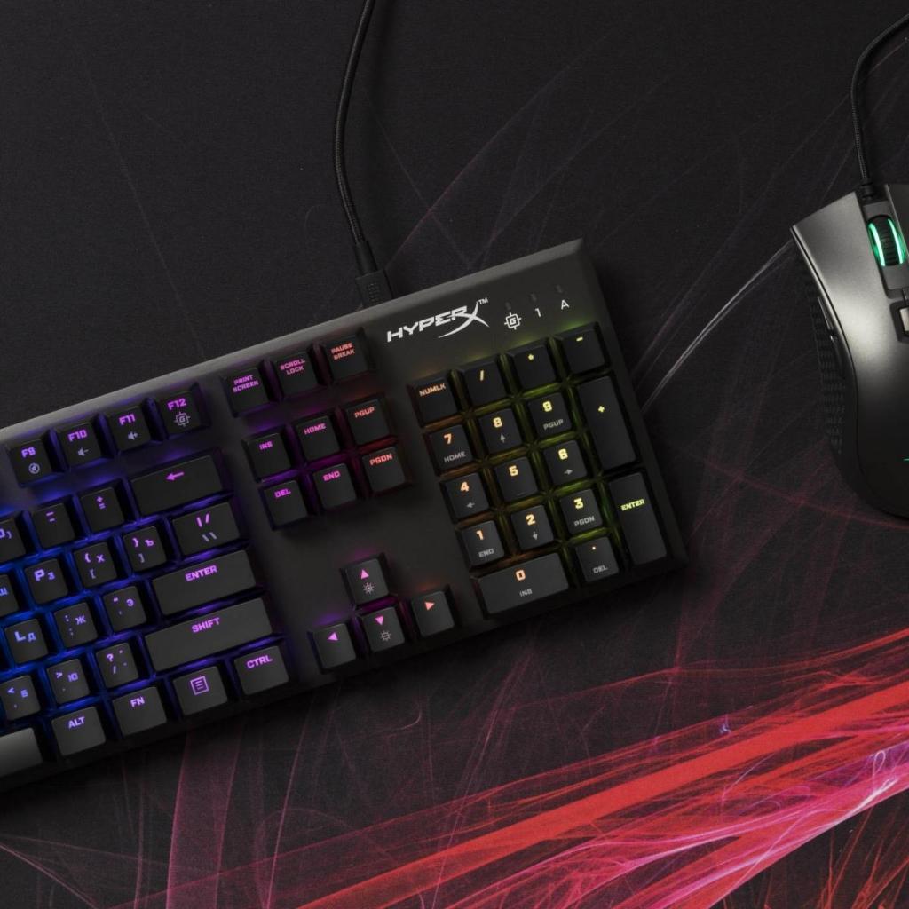Клавіатура HyperX FPS RGB Kailh Silver Speed (HX-KB1SS2-RU) зображення 6