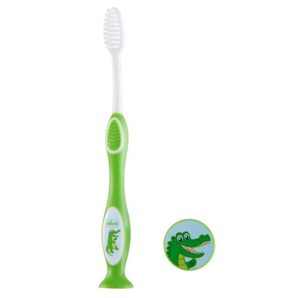 Детская зубная щетка Chicco Зеленая (2900990799879) (09079.20.20)