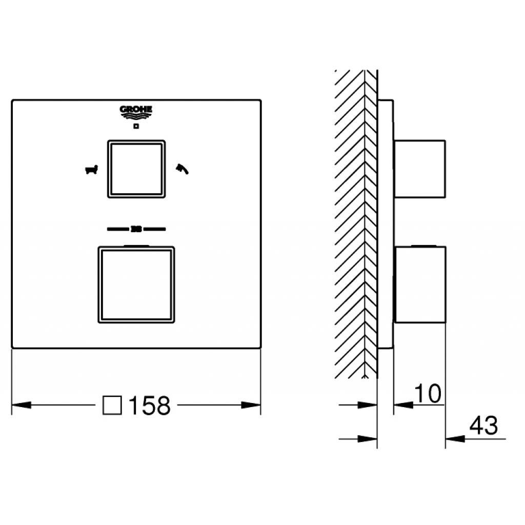 Термостатический смеситель Grohe GRT (24155000) изображение 3