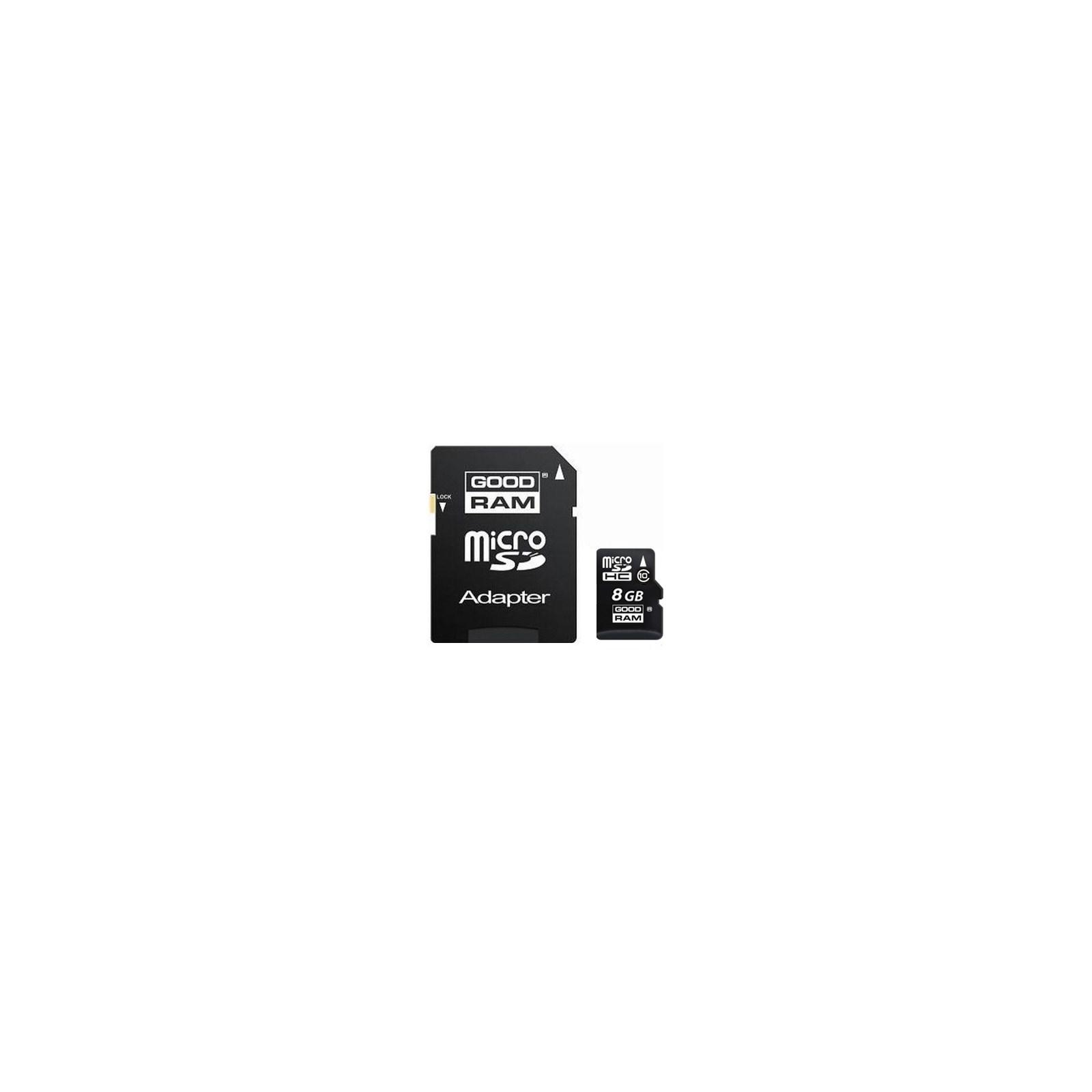 Карта памяти GOODRAM 8Gb microSDHC class 10 (SDU8GHC10AGRR9\SDU8GHC10AGRR10)