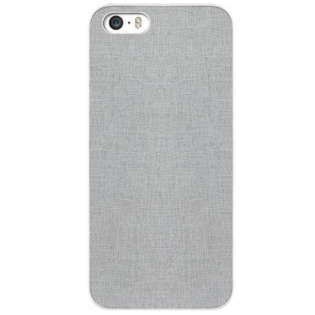 Чехол для моб. телефона OZAKI iPhone 5/5S O!coat 0.3+ Canvas ultra slim Gray (OC543GE)