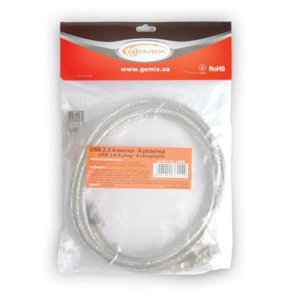 Дата кабель подовжувач USB2.0 AM/AF GEMIX (Art.GC 1609-3) изображение 2